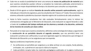 COMUNICADO DE UTP