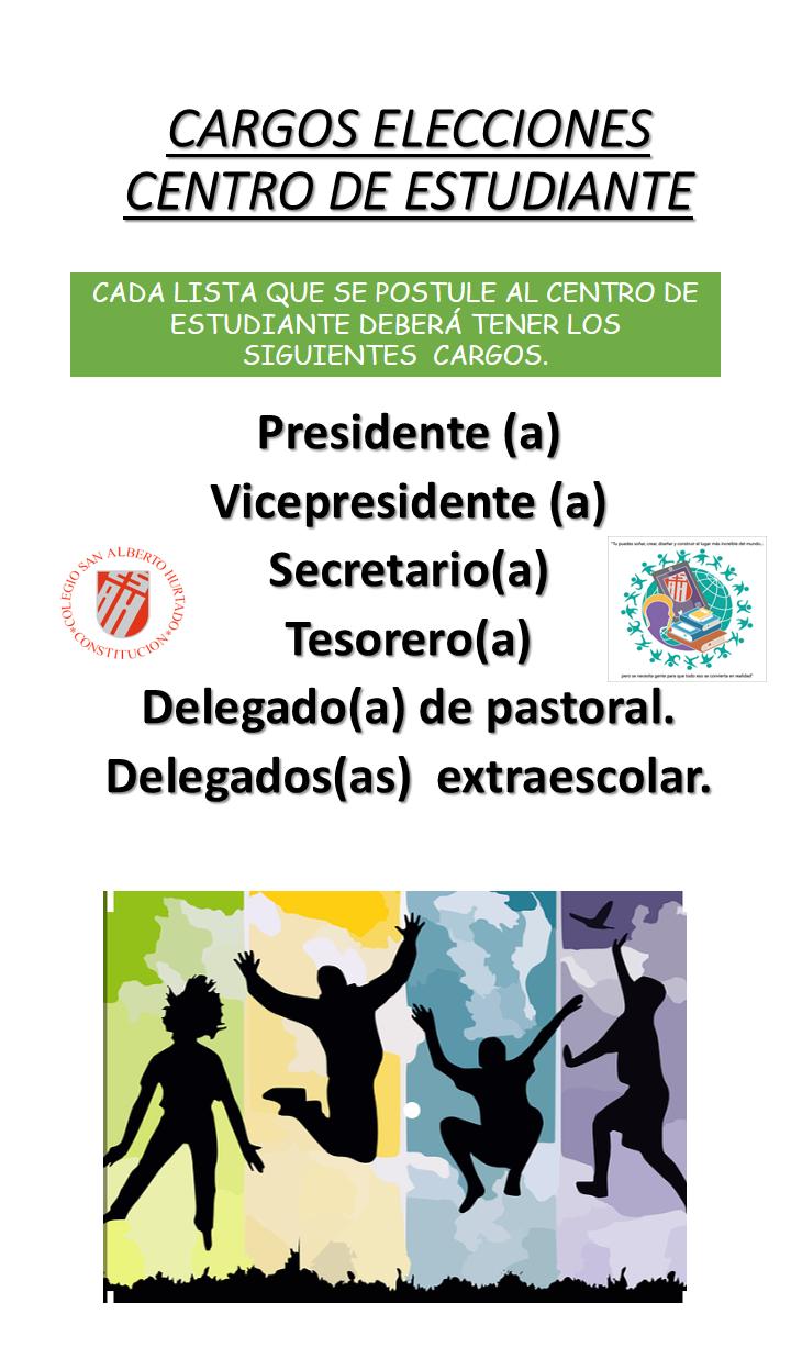 CARGOS ELECCIONES CENTRO DE ESTUDIANTE