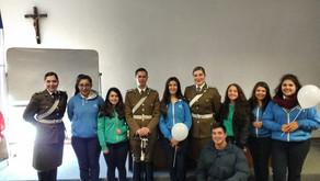 Escuela de Oficiales de Carabineros comparte con estudiantes de enseñanza media del CSAH