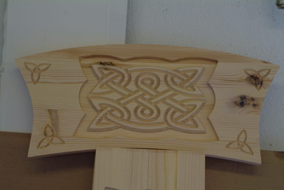 CNC Celtic Fireplace Engravings