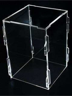Acrylic flat pack boxes