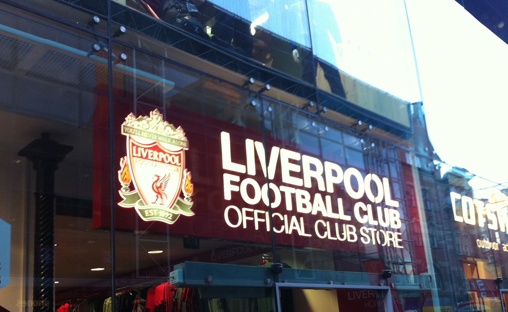 liverpool shop sign