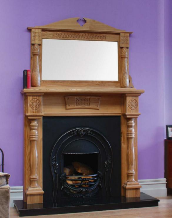 CNC Celtic Fireplace Engravings