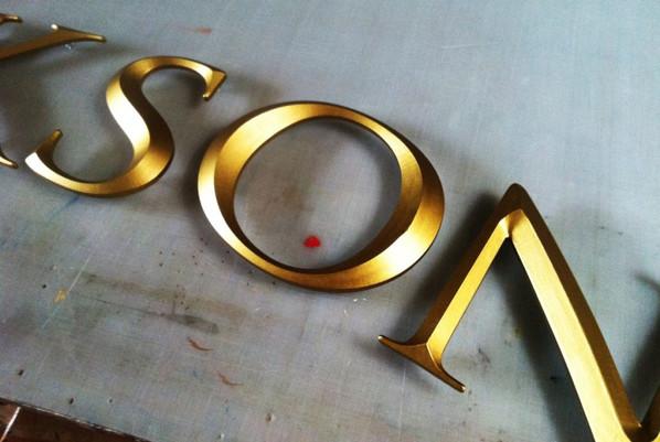 prismatic v carved letters
