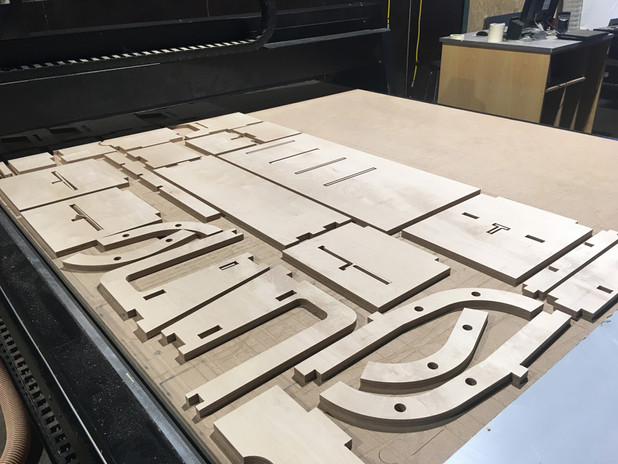 Cnc routered components