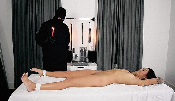 Hot Wax Tease & Cum Video
