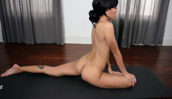 Naked & Stretching Cum Video