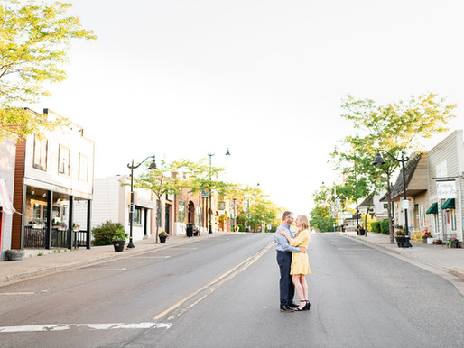 Romantic Sunrise Engagement Session //  Aimee + Brian // Osceola, WI