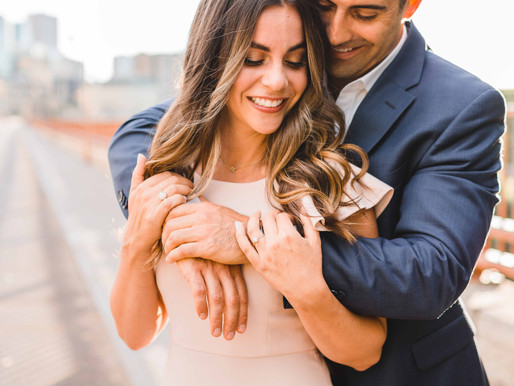 Minneapolis Engagement Session // Dana & Jim // Stone Arch Bridge, Boom Island Park