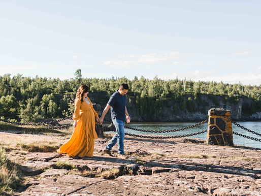 North Shore Maternity Session // Nicolina & Tou // Duluth, MN