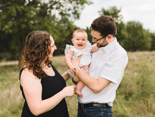 Lucy's Six Month Milestone // Outdoor Family Session in MN