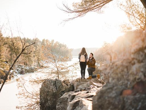 Nick + Briana's Proposal // Taylors Falls, MN