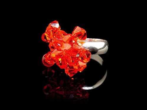 FIRST FLOWERS RING - RED HYACINTH