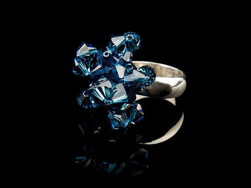 FIRST FLOWERS RING - MONTANA NAVY BLUE