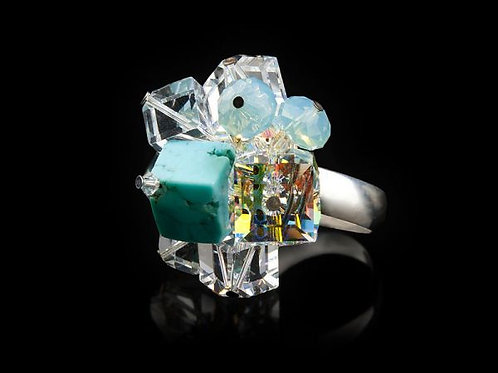 CUBE COCKTAIL RING
