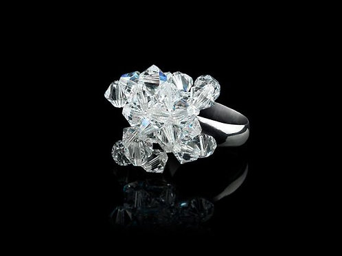 FIRST FLOWERS RING - CLEAR