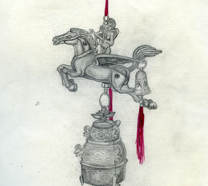 pencil and watelcolor on paper 2008