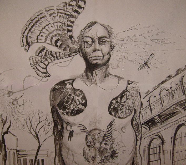Ink on paper, 200x140cm, 2009