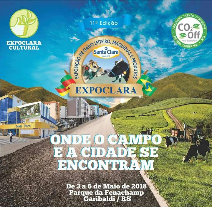 Convite Evento Expoclara 2018