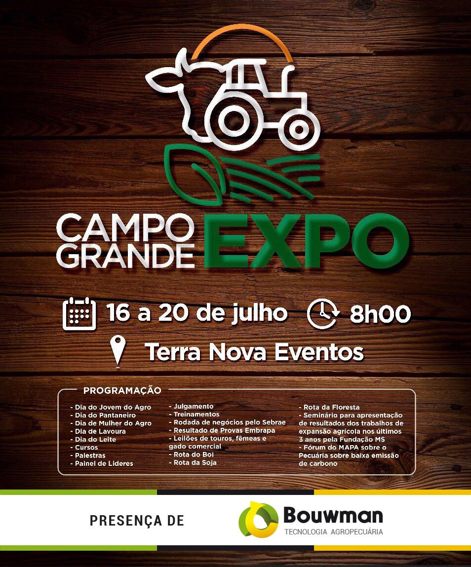 Convite evento Campo Grande Expo