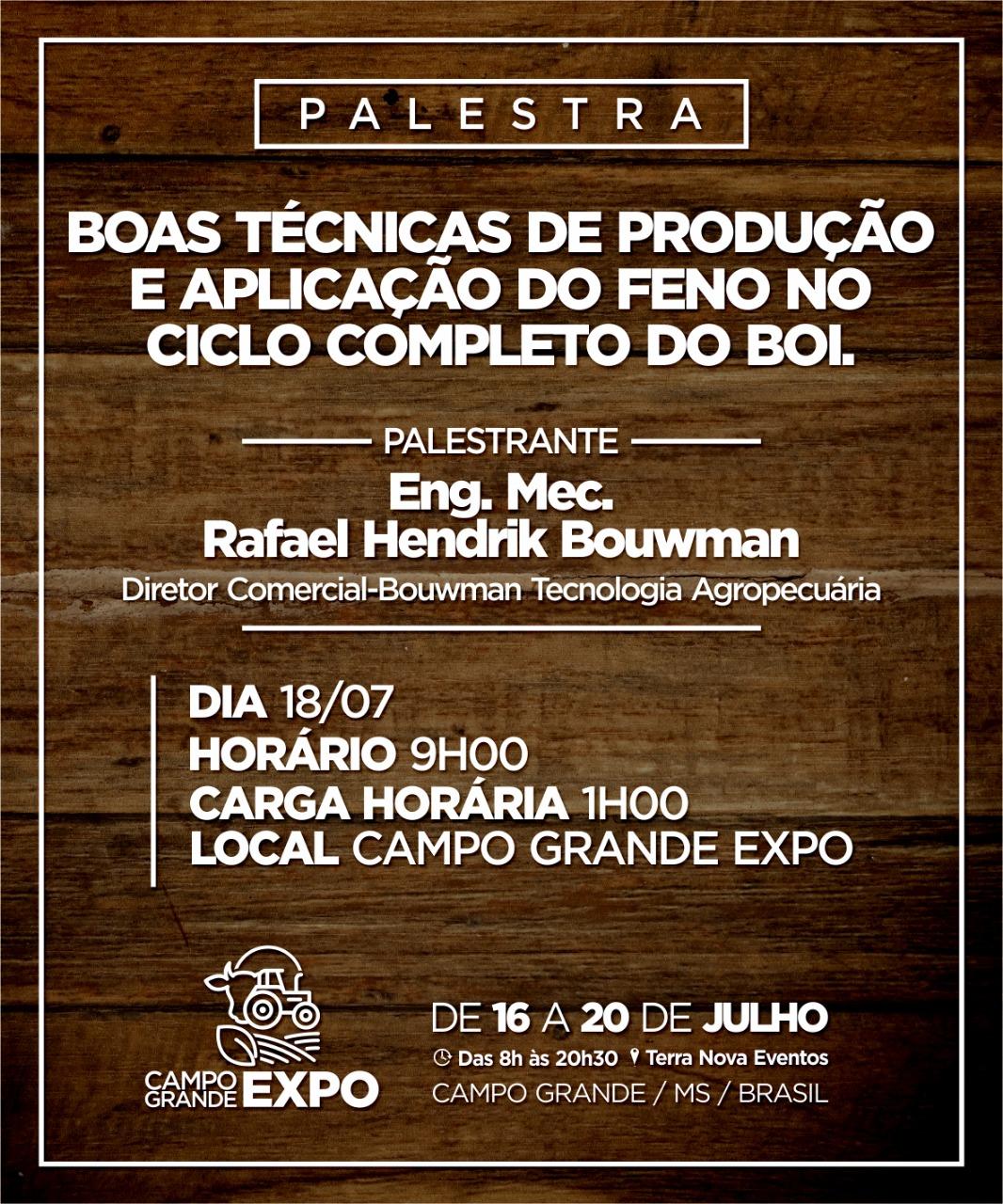 Convite Palestra Campo Grande Expo