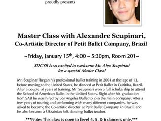 Alexandre Scupinari é convidado para dar aula em San Diego na Califórnia!