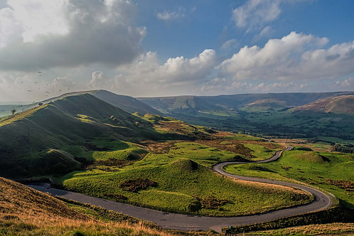 A view from Mam Tor over Hope Valley