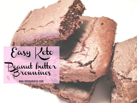 Keto Peanut Butter Brownies