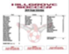 2019 Hillgrove Girls Team Selection - FI