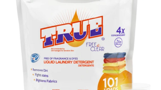 True Free & Clear Laundry Detergent 101oz