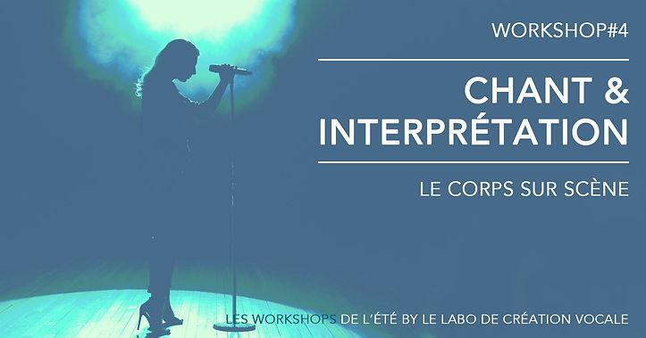 Les workshops de l'été by Le Labo de création vocale. Workshop#4 - Chant et improvisation : le corps sur scène. Stage de chant, Toulouse