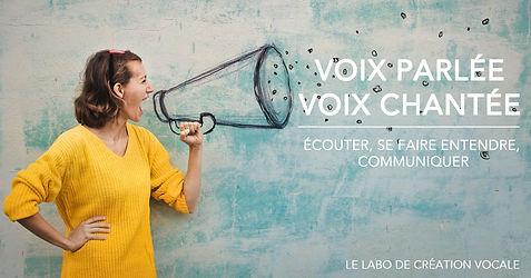 stage voix parlée, voix chantée, écouter, se faire entendre, communiquer. Stage de chant, coaching vocal.