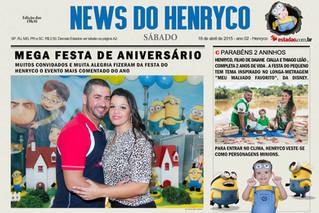 Foto Lembrança em Capa de Jornal personalizado.