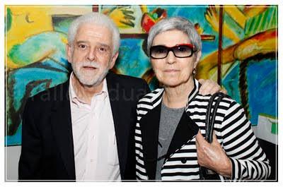 Flávio Gikovate com sua esposa