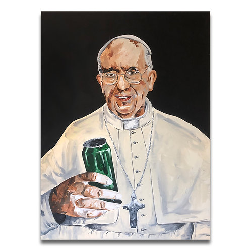Pope with a Beer