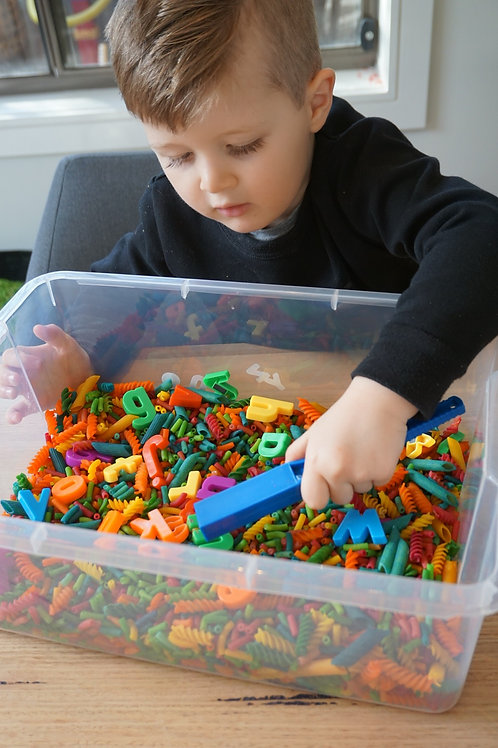 Rainbow Alphabet Matching - Sensory Kit