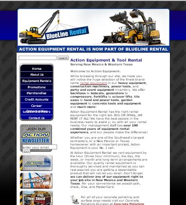 Machinery rentals website page.jpg
