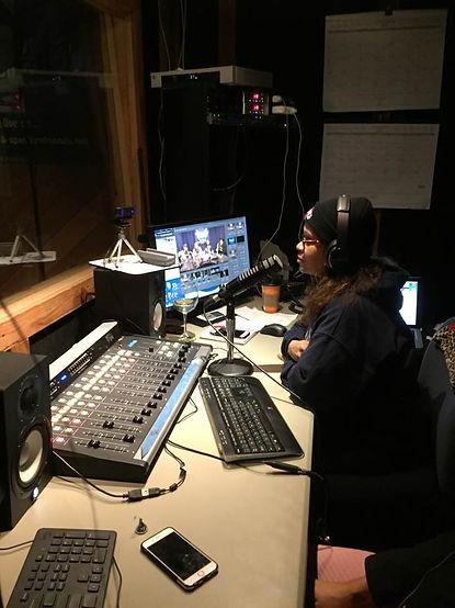 The Poetess in studio