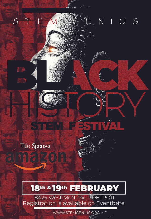 STEM GENIUS black history month celebrat