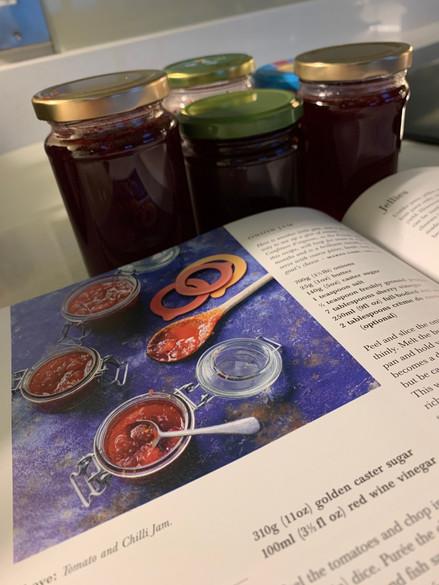 Homemade jellies and jams