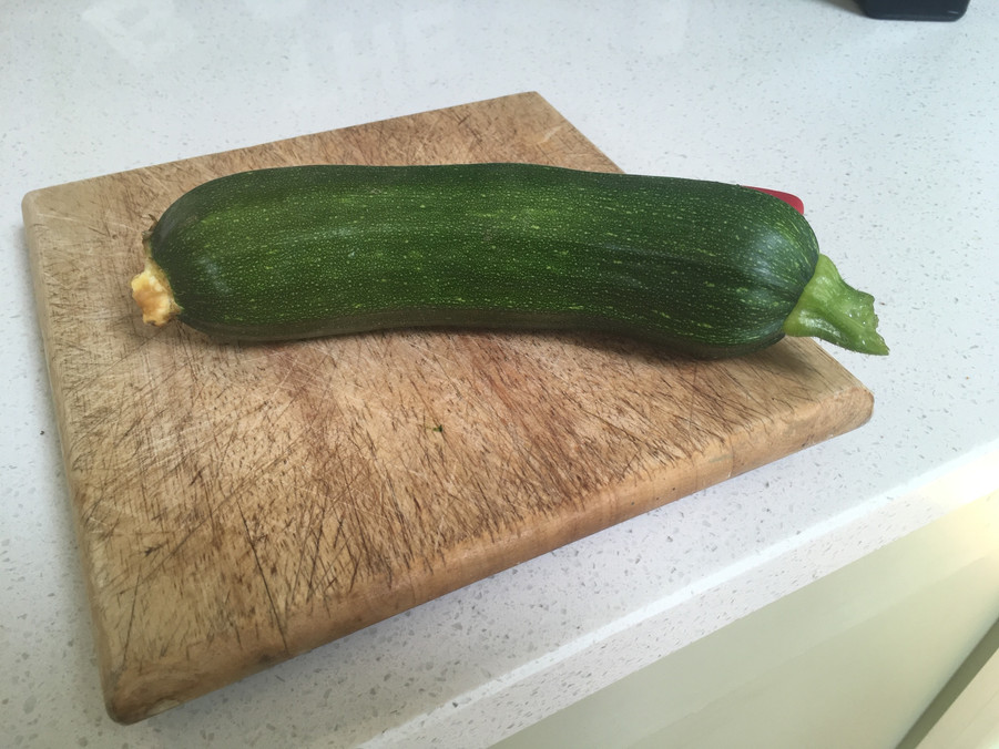 Homegrown courgette