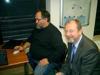 Hans G Kress and techician Sandro La Man