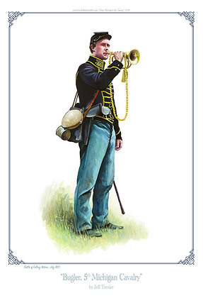 """Bugler, 5th Michigan Cavalry"""
