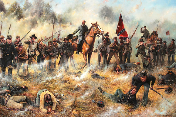 """Charge Them Boys!"" Canvas Giclee 24x36"""
