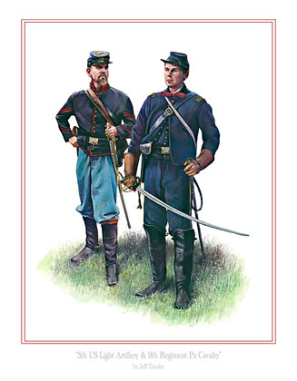 5th US light Artillery & 9th Regiment Pa Cavalry