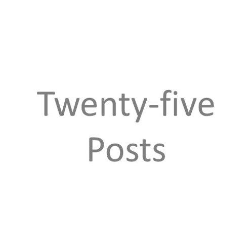 Twenty-Five Posts