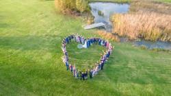 Drone wedding heart