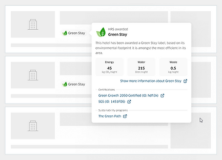 Green Stay - Booking Tool Display Exampl