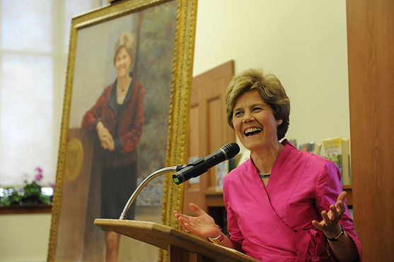 Portrait unveiling of Diana Chapman Walsh at Wellesley College, Wellesley, MA