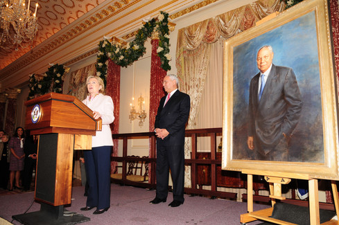 General Colin Powell portrait unveiling